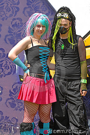 Wave gothic pair at goth-festival 2009 Editorial Photography