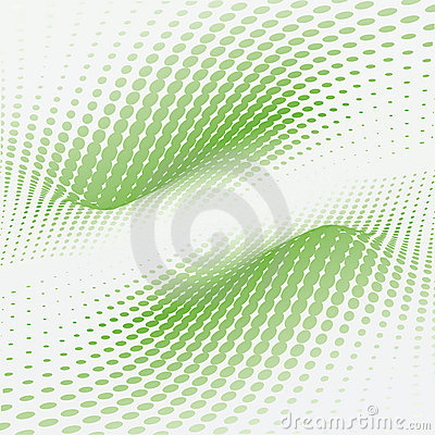 Free Wave Green Dots Stock Photography - 14804652