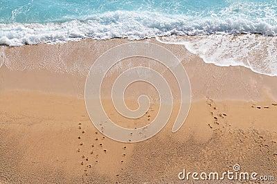 Wave hitting  the Shoreline