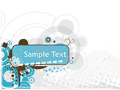 Wave lines sample text vector illustration