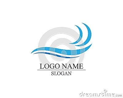 wave logo and symbols Vector Illustration