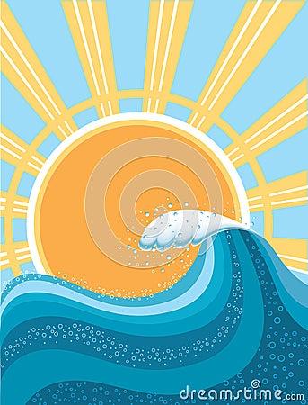 Wave in ocean