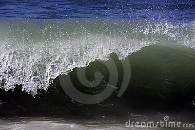 Wave reaches shoreline