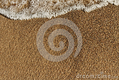 Wave on the sand.