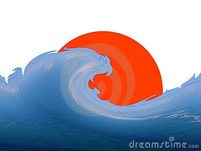Wave and sun - logo