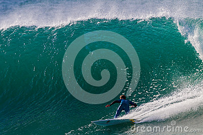 Wave Surf Rider Large Turning Editorial Image