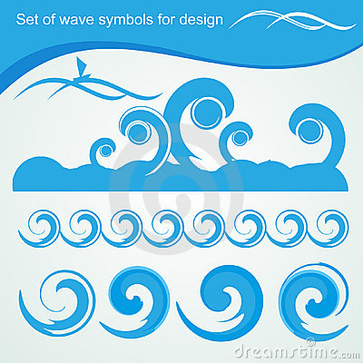Wave symbols for design