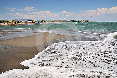 Wave on tropical beach