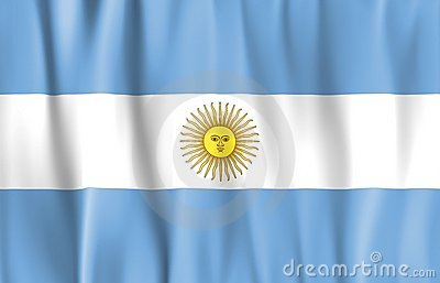 Waved Argentina Flag