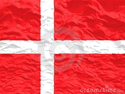 Waved Denmark Flag