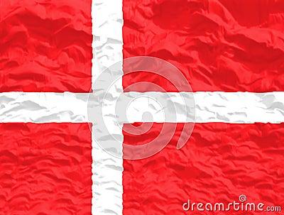 Waved Denmark Flag