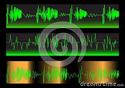 Waveforms. Set. Vector.