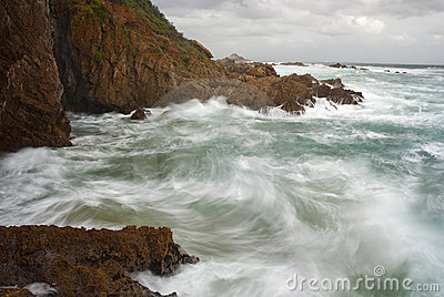 Waves Crashing Into Cliffs Royalty Free Stock Images - Image: 12383009