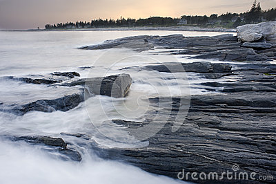 Waves Crashing in Maine