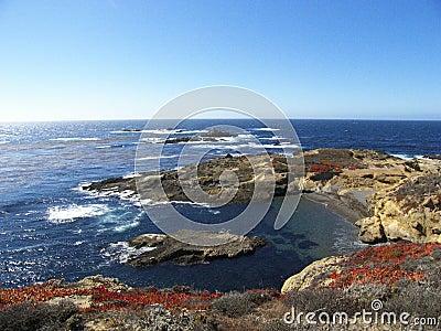 Waves crashing at Point Lobos State Park, CA