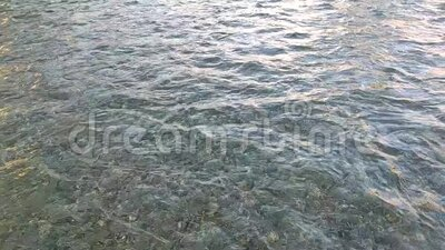 Waves flowing in the center of the river. Slow motion video of Waves flowing in the center of the river stock video