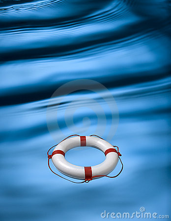 Waves And Lifebuoy Ring