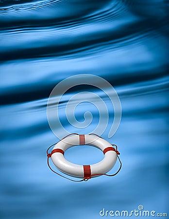 Waves And Lifebuoy Ring