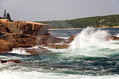 Waves on Maine coast