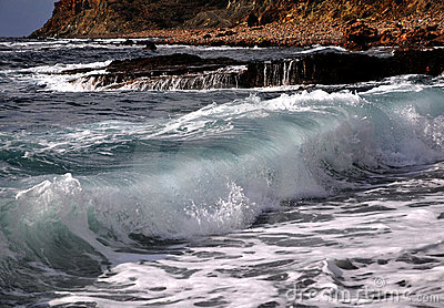 Waves in Mediterranean sea, Cyprus