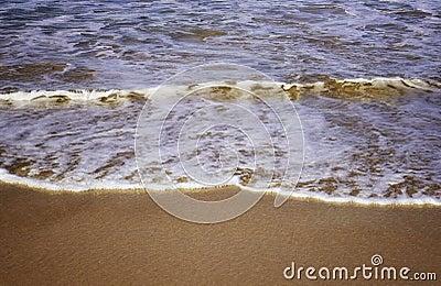 Waves on the sand at bondi