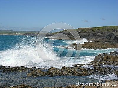 Waves at shore