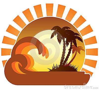 Free Waves, Sunset, Tropical Island Stock Photos - 5152853