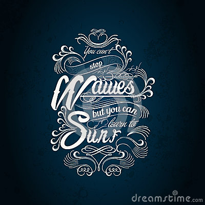 Free Waves Surf Typography Design Stock Photography - 53469132