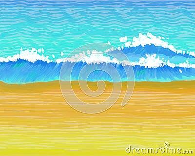 Wavey пляжа