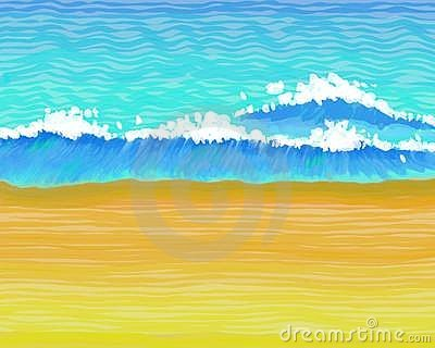 Wavey beach