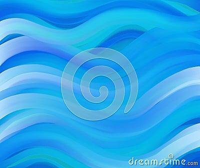 Wavey blue