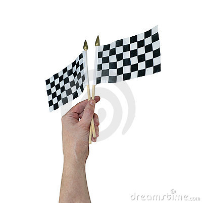 Waving Checkered flags