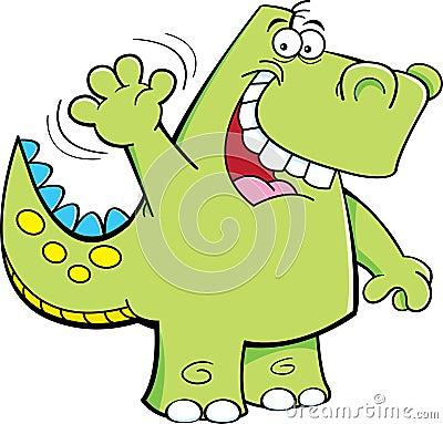 Waving dinosaur