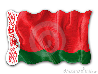 Waving flag of Belarus