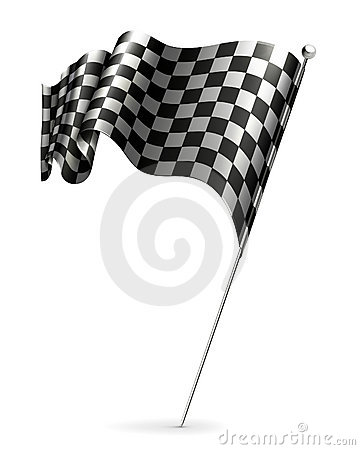 Waving flag checkered