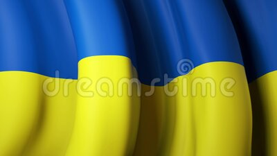 Waving flag of oekraïne for banner design Oekraïnse vlag geanimeerde achtergrond Oekraïens feestelijk ontwerp Naadloze lus stock video