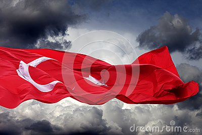 Waving flag of Turkey