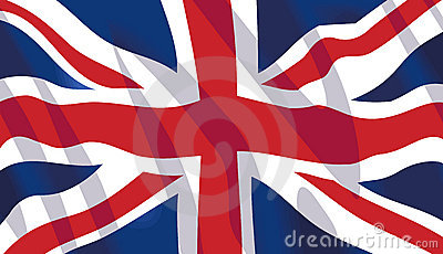 Waving flag of United Kingdom