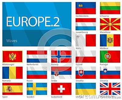 Waving Flags of European Countries - Part 2