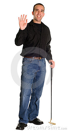 Waving Golfer