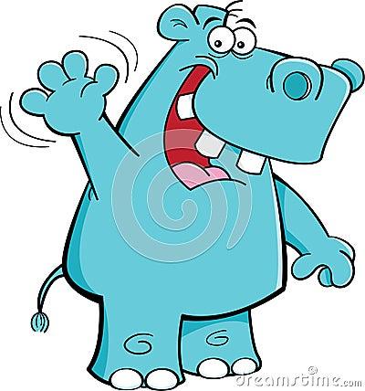 Waving hippo