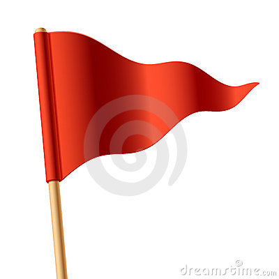 Free Waving Red Triangular Flag Stock Image - 21619431