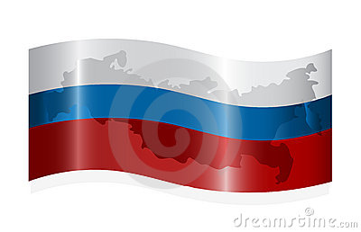 Waving russian flag