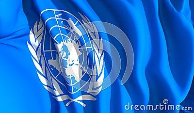 Waving united nations