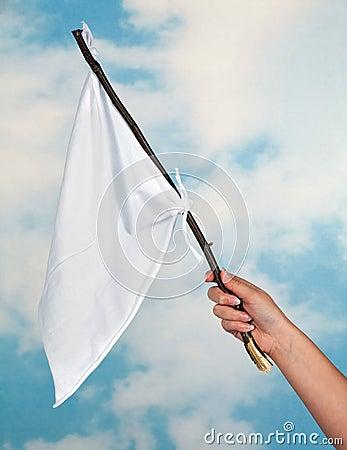 Waving a white flag
