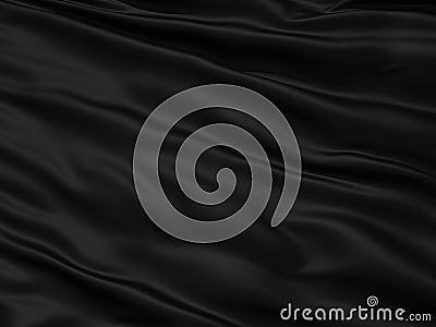 Wavy black textile background