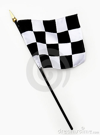 Wavy Black and White Finish Line Checkered Flag