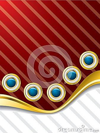 Wavy buttons brochure design