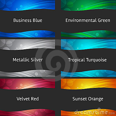 Free Wavy Colorful Backgrounds Collection Royalty Free Stock Image - 14325976