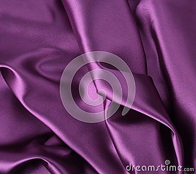 Wavy folded satin silk